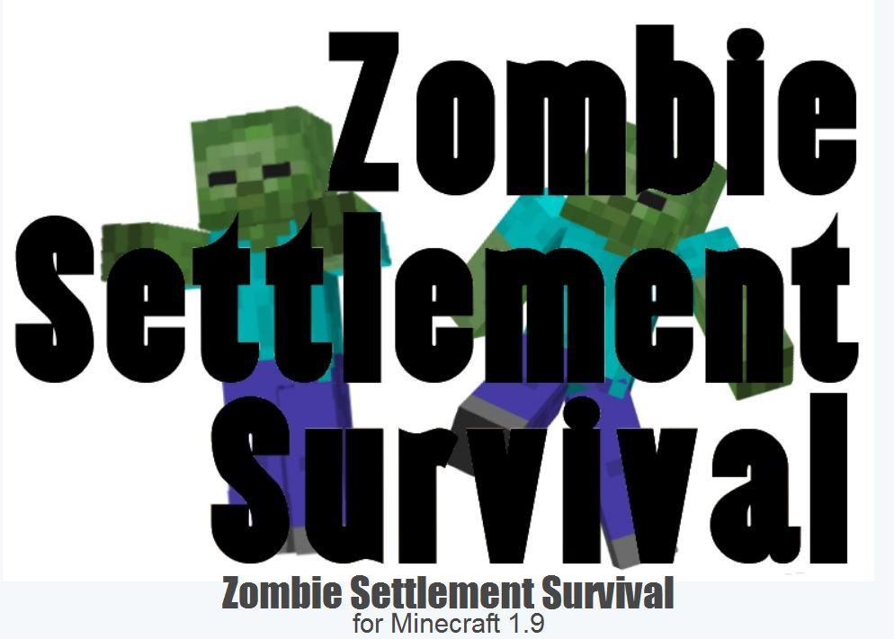 minecraft map survie 1.9 zombie settlement survie
