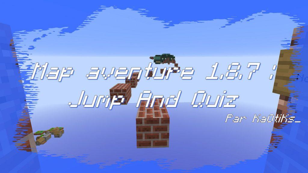 minecraft map aventure 1.8.7 jump and quiz