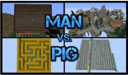 minecraft map jeux man vs pig