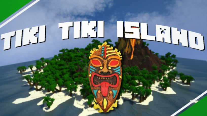 minecraft map survie tiki tiki island