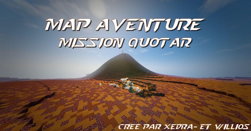 minecraft map aventure française mission quotar