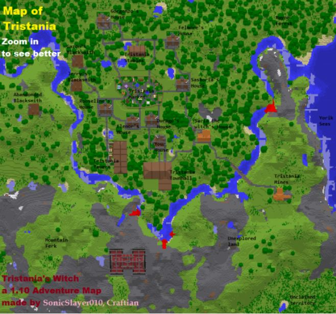 map aventure minecraft tristania's witch map