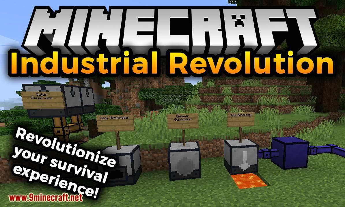 Industrial Revolution mod for minecraft logo