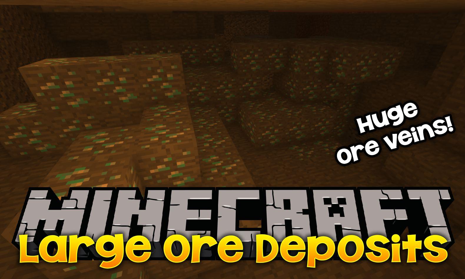 Large Ore Deposits mod for minecraft logo