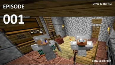 lets play minecraft ft cyn2 e001 un debut incroyable