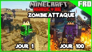 100 jours hardcore minecraft zombies attaque