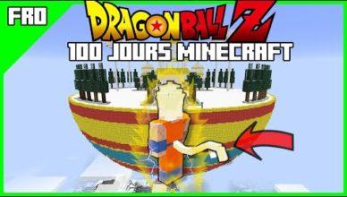 100 jours pour le niveau 9999 minecraft dragon ball z