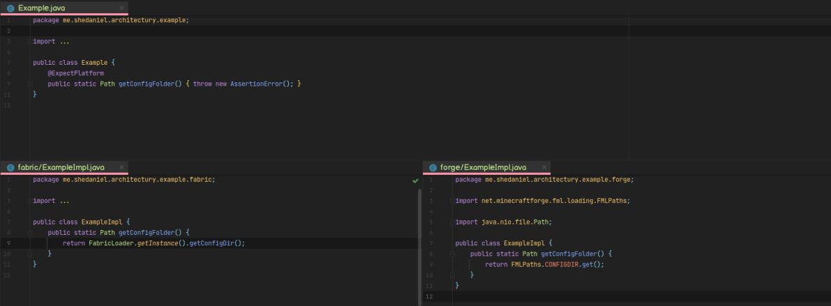 Architectury API Fabric mod for minecraft 01