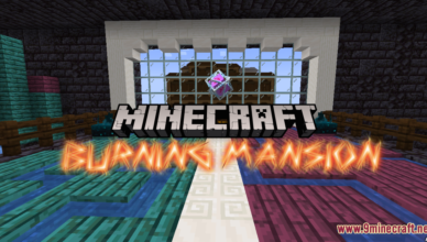 burning mansion map 1 17 1 for minecraft