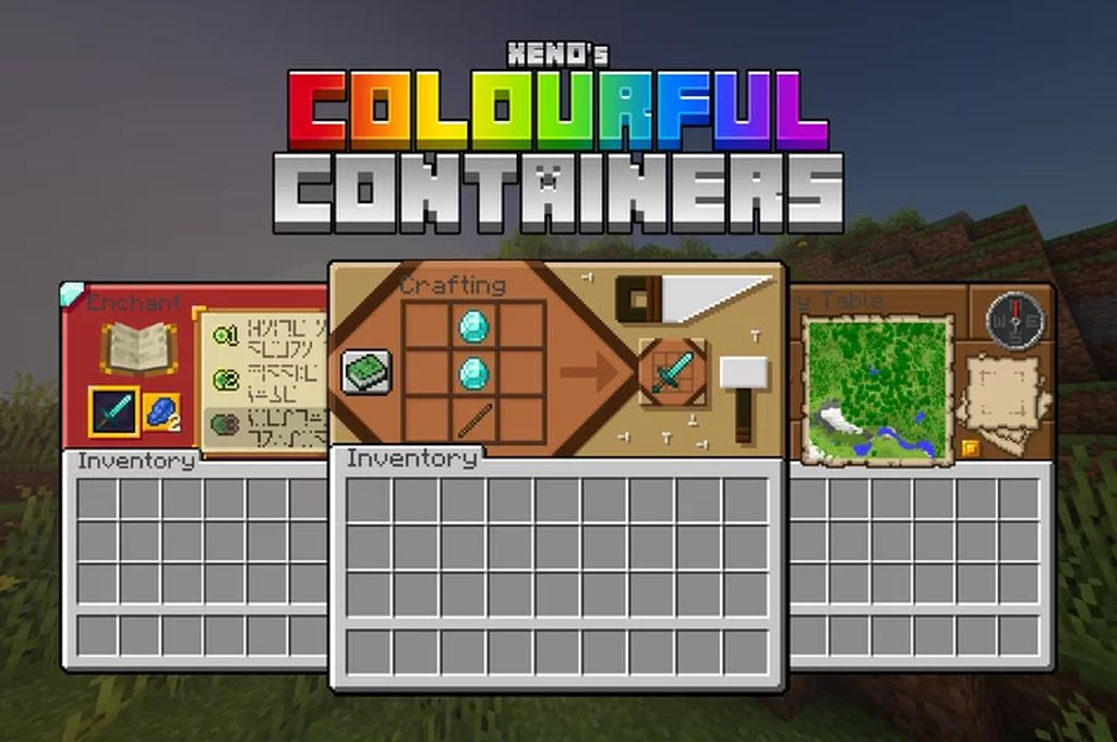 Colourful Containers GUI Resource Pack