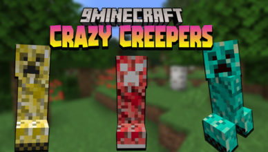 crazy creepers mod 1 17 1 new creepers
