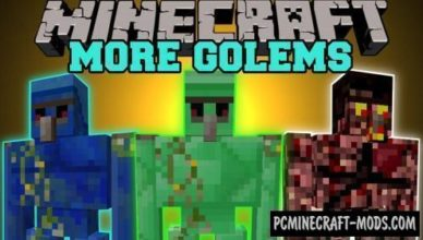 extra golems new mobs mod for mc 1 17 1 1 16 5 1 12 2 1 8 9