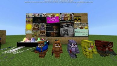 five nights at freddys pack v1 4 for minecraft 1 18