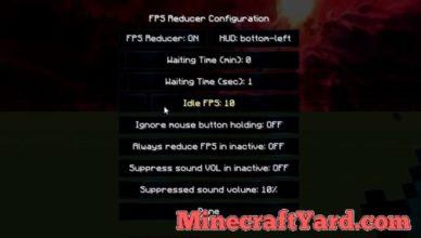 fps reducer mod 1 17 1 minecraft download