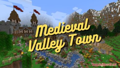 medieval valley town map 1 16 5 for minecraft