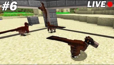 on construit lenclos des raptors minecraft survie 06