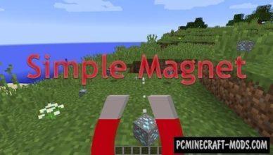 simple magnets tool item mod minecraft 1 17 1 1 16 5 1 12 2