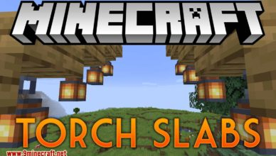 torch slabs mod 1 17 1 1 16 5 torches lanterns to be placed on half slab blocks