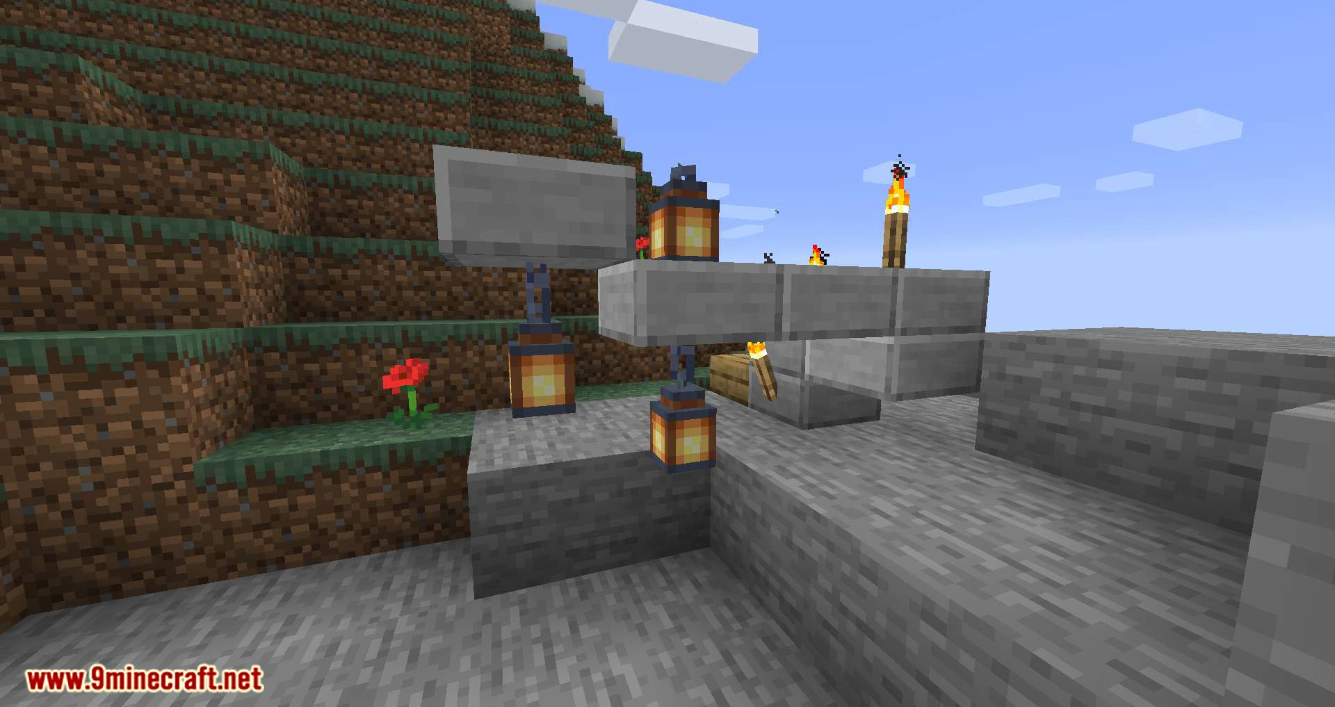 Torch Slabs Mod for minecraft 05
