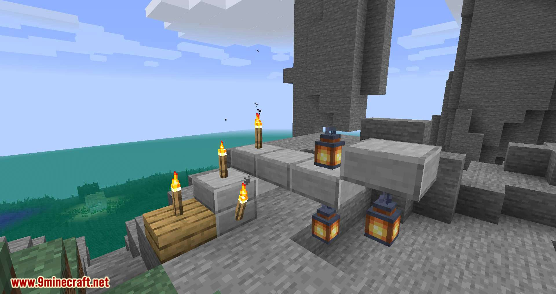 Torch Slabs Mod for minecraft 06