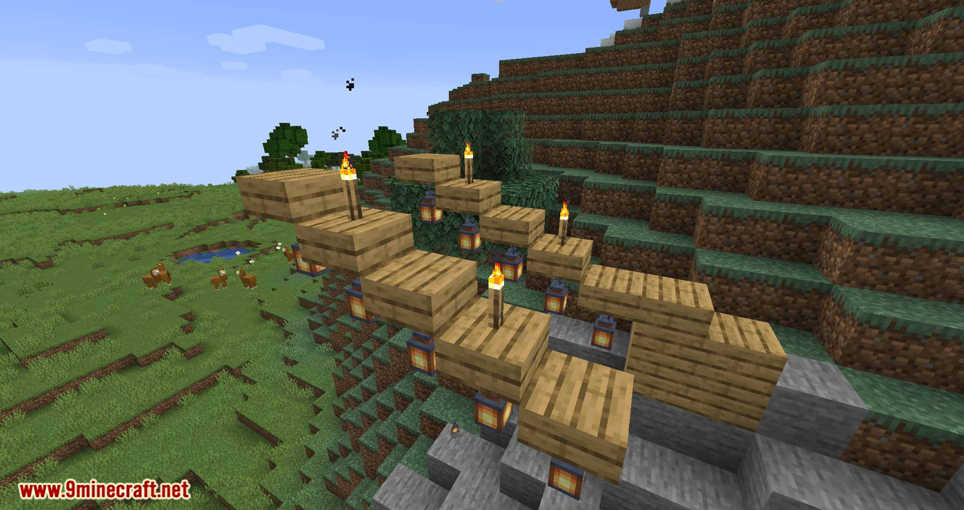 Torch Slabs Mod for minecraft 08
