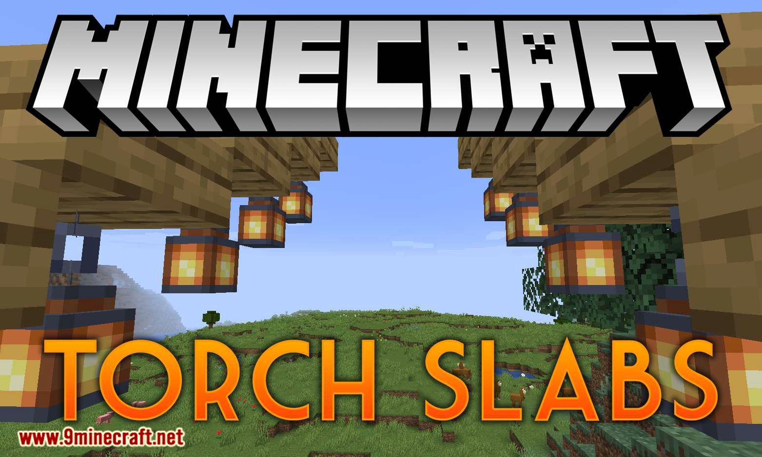 Torch Slabs Mod for minecraft logo