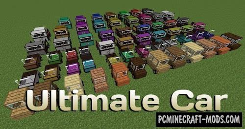 Ultimate Car - Vehicles Mod For MC 1.17.1, 1.16.5, 1.12.2