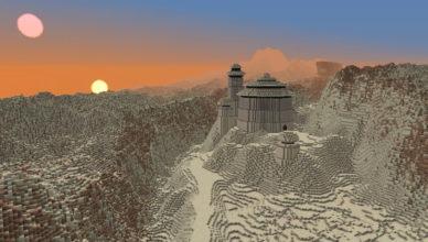 ce joueur veut recreer tout lunivers de star wars planete par planete dans minecraft