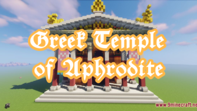 greek temple of aphrodite map 1 17 1 for minecraft