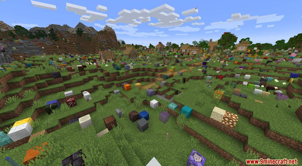 Minecraft But It's Raining Random Blocks Data Pack Screenshots (10)