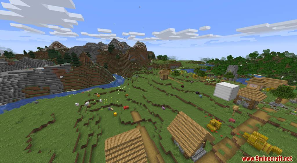 Minecraft But It's Raining Random Blocks Data Pack Screenshots (5)
