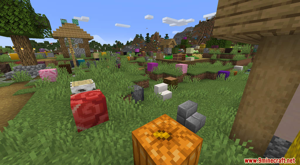 Minecraft But It's Raining Random Blocks Data Pack Screenshots (9)