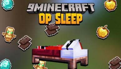 minecraft but sleeping drops op loots data pack 1 17 1 op sleep
