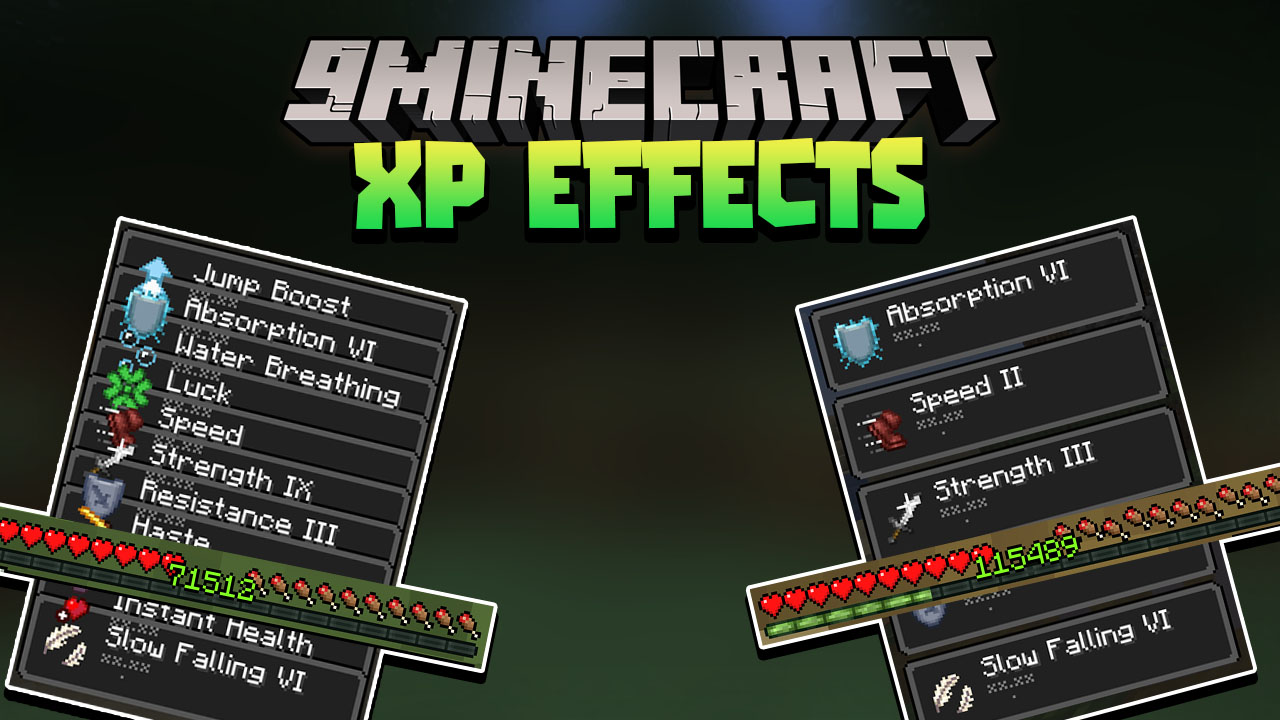Minecraft But XP Equal Effects Data Pack Thumbnail