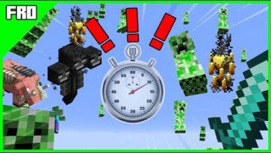 minecraft mais des mobs spawn chaque seconde