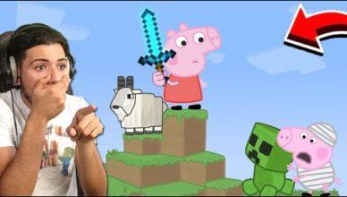 peppa pig joue a minecraft peppa pig vs minecraft animation
