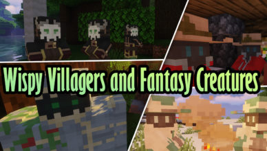 wispy villagers and fantasy creatures resource pack 1 15 2 1 14 4
