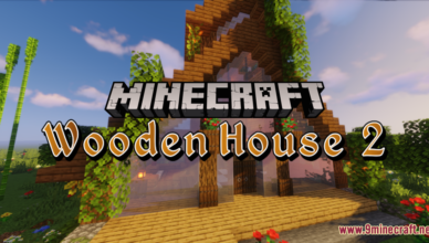 wooden house 2 map 1 17 1 for minecraft