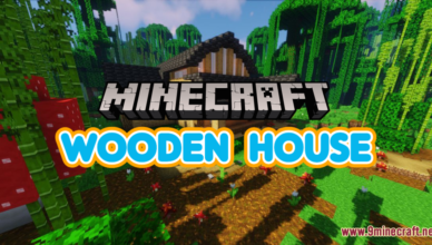 wooden house map 1 17 1 for minecraft