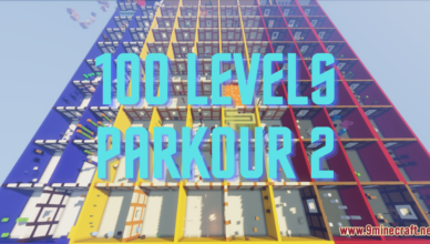 100 levels parkour 2 map 1 17 1 for minecraft