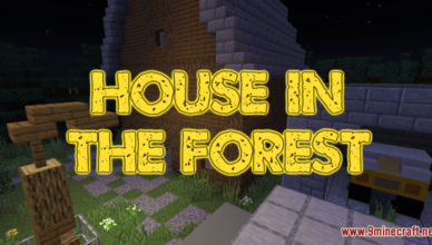 house in the forest map 1 17 1 for minecraft