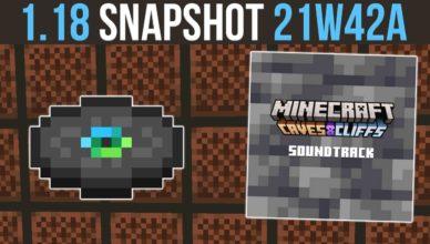 minecraft 1 18 snapshot 21w42a new otherside music disc