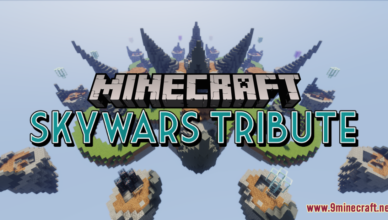 skywars tribute map 1 17 1 for minecraft