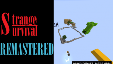 strange survival remastered map for minecraft
